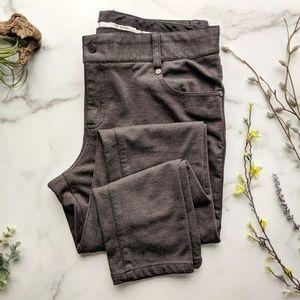 Tory Burch Grey ponte knit skinny pant 0618